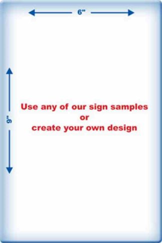 5101 Laminated Sign
