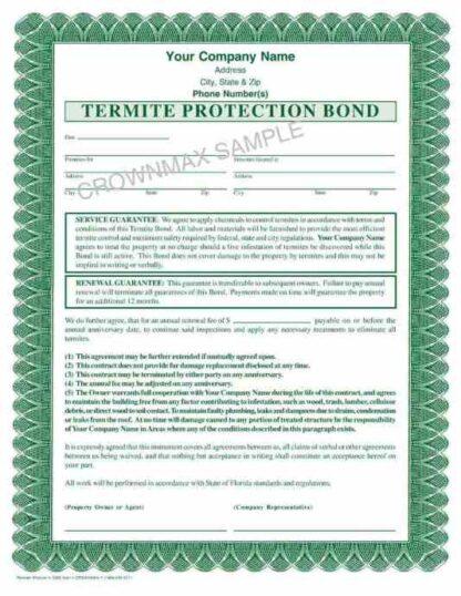 7263 Termite Protection Bond