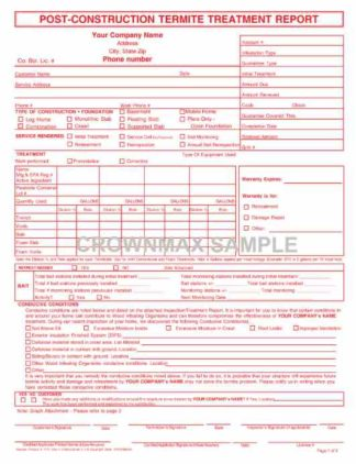 7275 Post Construction Termite Treatment Report