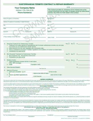7267 Subterranean Termite Contract & Repair Warranty