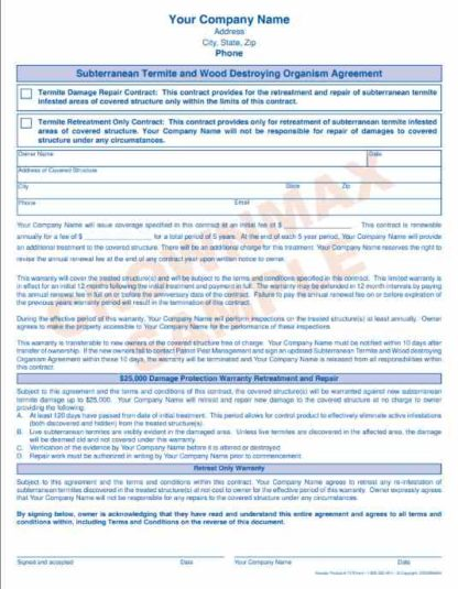 7178 Subterranean Termite Agreement