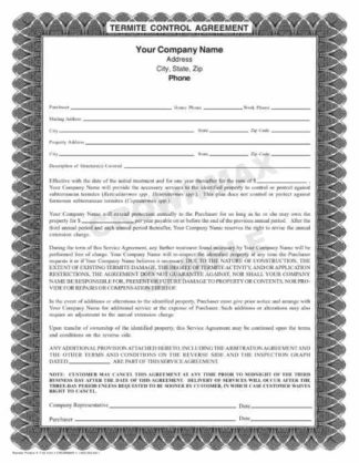7163 Termite Control Agreement