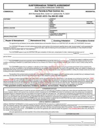 7135 Subterranean Termite Agreement