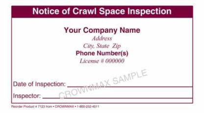 7123 Crawl Space Inspection