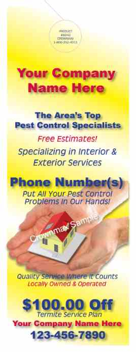 8243 Doorhanger for Pest Control Advertising