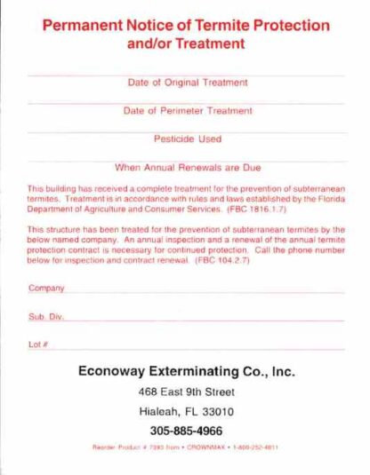 7093 FL Notice of Protection - Treatment