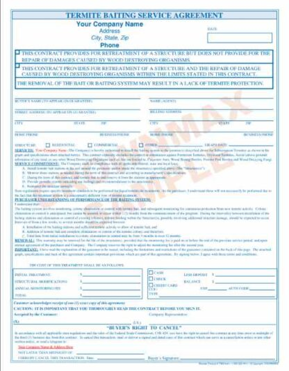 7087 Termite Baiting Service Agreement