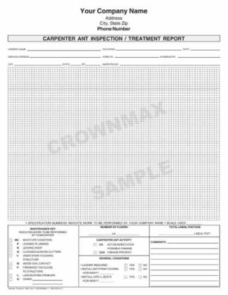 7070 Carpenter Ant Inspection / Treatment Report