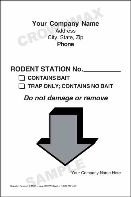 4 x 6 7062 rodent station label