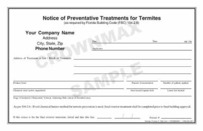 7023 FL Notice of Preventative Treatments