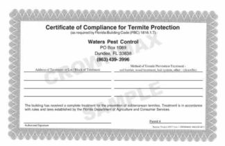 7018 FL Certificate of Compliance