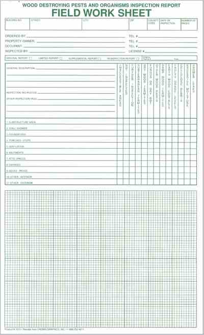7016 Field Work Sheet