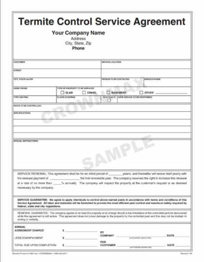 7046 Termite Control Service Agreement