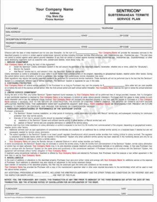 7035 Sentricon Service Plan