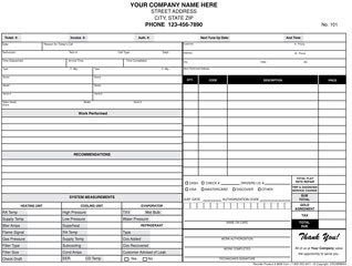 6825 Flat Rate Work Order / Invoice