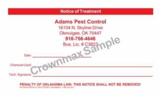 7007 Oklahoma Notice of Treatment Label