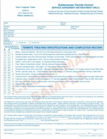 6904 Subterranean Termite Agreement