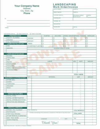 6573 Landscaping Work Order - Invoice