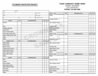 6542 Plumbing Inspection Report