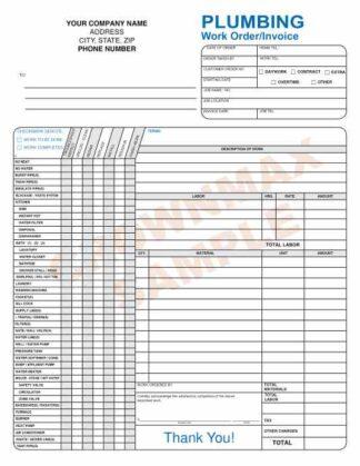 6540 Plumbing Work / Order Invoice