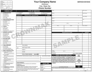 6532 Plumbing Service Invoice