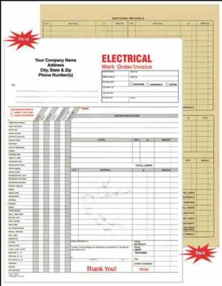 6520 Electrical Work Order / Invoice