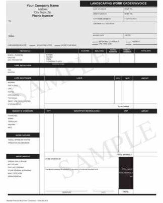 3631 Landscaping Work Order / Invoice