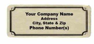 3541 Gold Foil Label