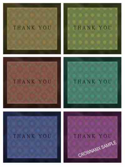 3460 Thank You Postcard