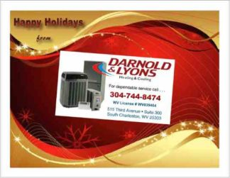 3471 Holiday HVAC Postcard