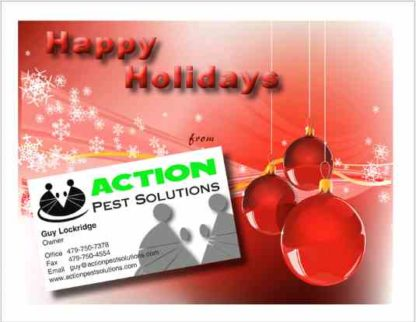 3470 Holiday Pest Postcard