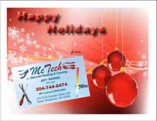 3470 Holiday HVAC Postcard