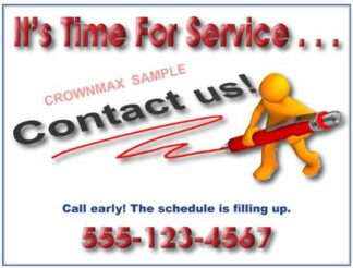 3467 Time For Service Postcard