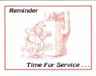 3405 Reminder Time For Service - Heat