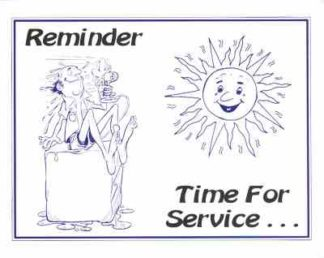 3408 Reminder Time For Service - Summer