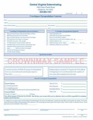 2908 Crawl Space Encapsulation Contract