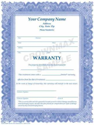 2806 Treatment Warranty