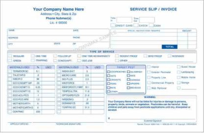 2683 Service Slip Invoice