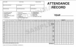 2787 Attendance Record