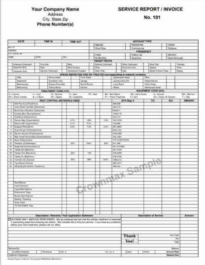 2707 Service Report / Invoice