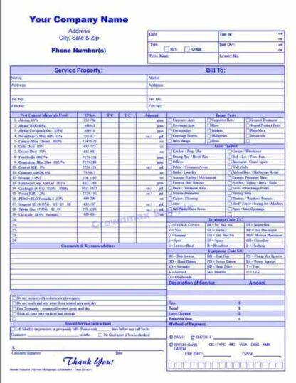 2701 Service Report / Invoice