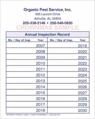 2657 Annual Inspection Record