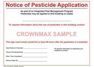 2651 Notice of Pesticide Application