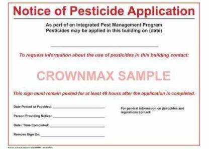 2651 Notice of Pesticide Application
