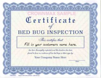 2671 Bed Bug Certificate