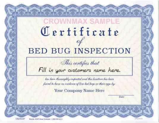 2671  u2013 bed bug certificate