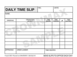 2621 Daily Time Slip