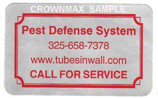 2618 Custom Label 2 x 1-1/4