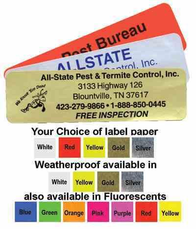 2615 3 X 1 inch Label