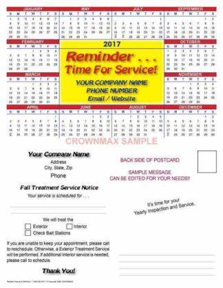 2606 Reminder Postcard With Calendar
